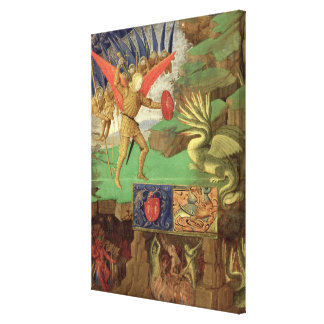 St. Michael Slaying the Dragon Canvas Print