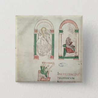 St. Michael, St. Augustine and St. David 15 Cm Square Badge