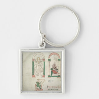 St. Michael, St. Augustine and St. David Key Ring