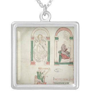 St. Michael, St. Augustine and St. David Silver Plated Necklace