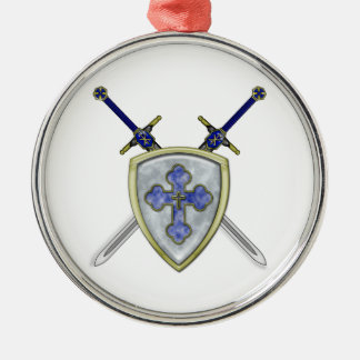 St Michael - Swords and Shield Christmas Ornament