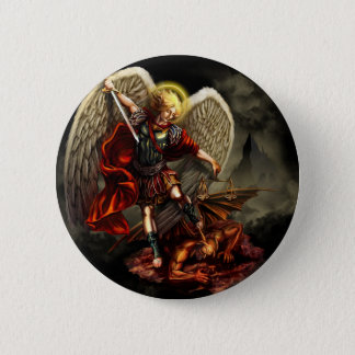 St. Michael the Archangel 6 Cm Round Badge