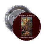 St. Michael the Archangel Buttons