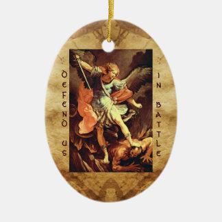 St. Michael the Archangel Prayer Ceramic Oval Decoration