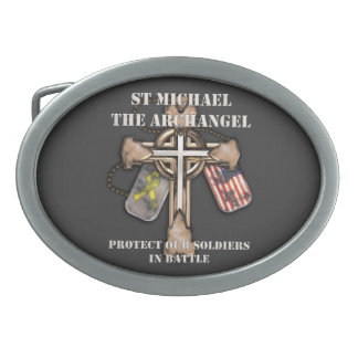 St Michael The Archangel - Protect Our Soldiers Belt Buckle