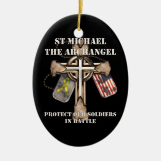 St Michael The Archangel - Protect Our Soldiers Christmas Ornament