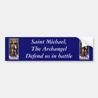 St Michael The Archangel Stained Glass Window Bumper Sticker