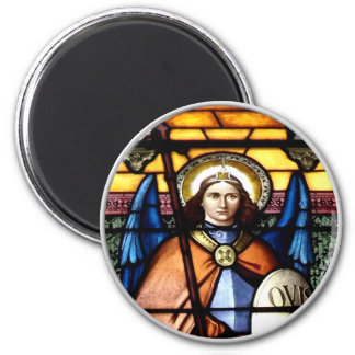 St. Michael The Archangel Stained Glass Window Magnet