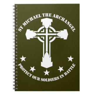 St Michael The Archangel - White Stencil Notebook