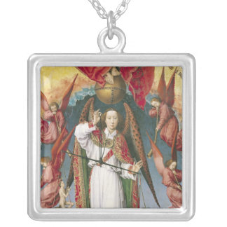 St. Michael Weighing the Souls Silver Plated Necklace