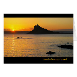 St.Michael's Mount at Sunset Card