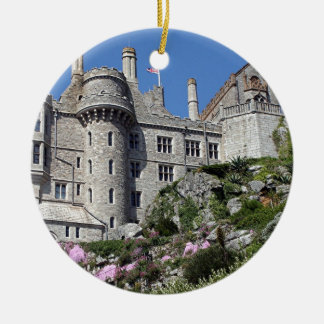 St Michael's Mount Castle, England, UK Round Ceramic Decoration
