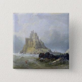 St. Michael's Mount, Cornwall 15 Cm Square Badge