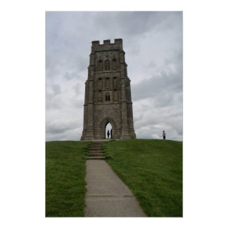 St Michael's Tower on Glastonbury Tor Poster