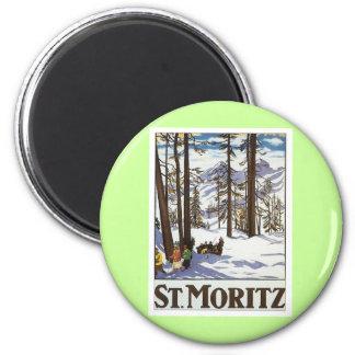 St.Moritz 6 Cm Round Magnet