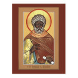 St. Moses the Ethiopian Prayer Card Post Card