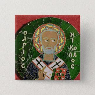 St. Nicholas 15 Cm Square Badge