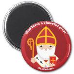 St. Nicholas 6 Cm Round Magnet