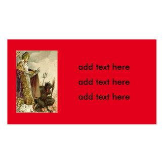 St Nicholas Krampus Pitchfork Priest Pack Of Standard Business Cards