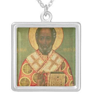 St. Nicholas, Moscow School Square Pendant Necklace