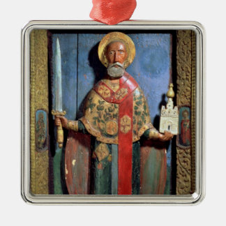 St. Nicholas of Mozhaisk, Yaroslavl School Christmas Ornament