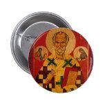 St. Nicholas of Myra 6 Cm Round Badge