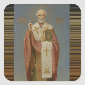 St. Nicholas of Myra Bishop Square Sticker