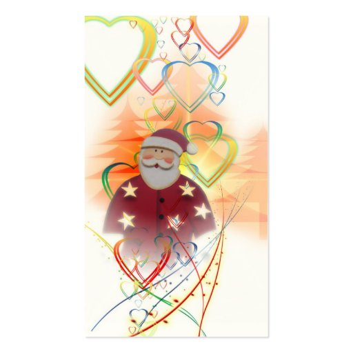 St. Nicholas Santa Clause Heart Tree Art Deco Business Card Templates