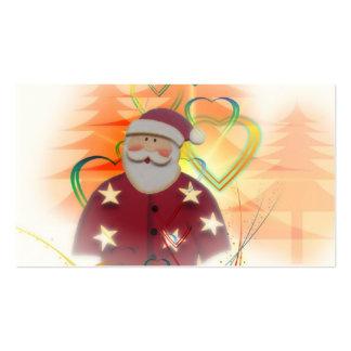 St Nicholas Santa Clause Heart Tree Art Deco Business Card Template