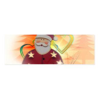 St Nicholas Santa Clause Heart Tree Art Deco Business Card Templates