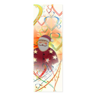 St. Nicholas Santa Clause Heart Tree Art Deco Pack Of Skinny Business Cards