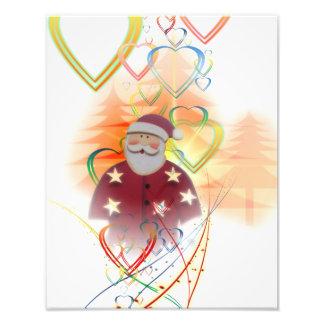 St. Nicholas Santa Clause Heart Tree Art Deco Photo Art
