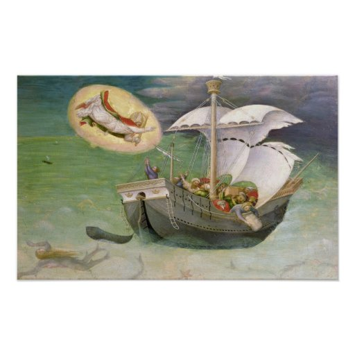 St. Nicholas Saves a Ship from Wreckage Poster