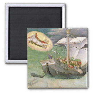 St. Nicholas Saves a Ship from Wreckage Square Magnet