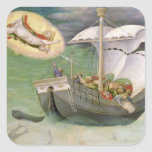 St. Nicholas Saves a Ship from Wreckage Square Sticker