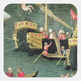 St Nicholas Saves Mira from Famine Square Sticker