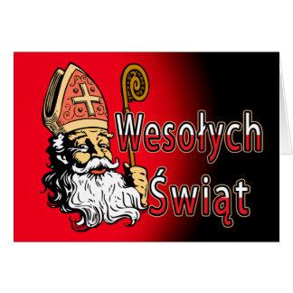St. Nicholas Wesolych Swiat Christmas Card