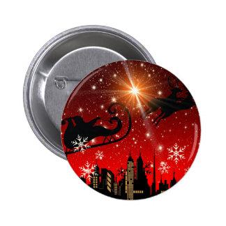 St Nick on Christmas Eve 6 Cm Round Badge