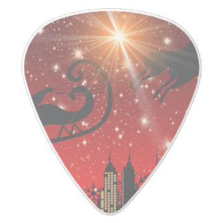 St Nick on Christmas Eve White Delrin Guitar Pick