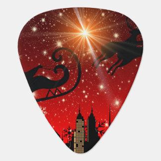 St Nick on Christmas Eve Guitar Pick