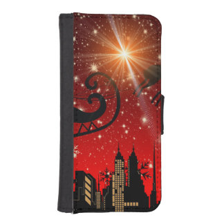 St Nick on Christmas Eve iPhone 5 Wallet Cases