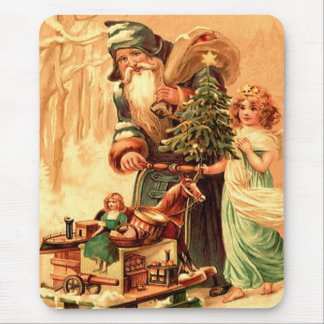 st nick vintage art mouse pad