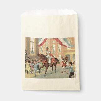 St. Nick's Day Dutch Sinterklaas Horse Vintage Favour Bags