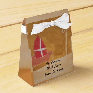 St. Nick's Day Dutch Sinterklaas Watercolor Miter Favour Box