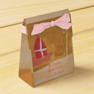 St. Nick's Day Dutch Sinterklaas Watercolor Miter Favour Boxes