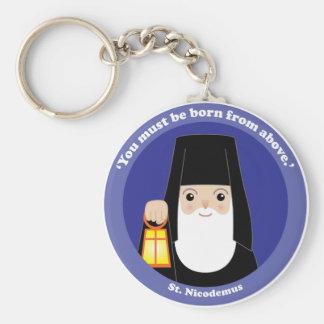 St. Nicodemus Basic Round Button Key Ring