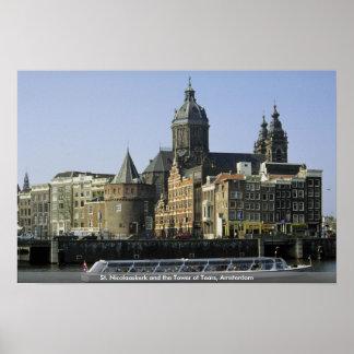 St. Nicolaaskerk and the Tower of Tears, Amsterdam Print