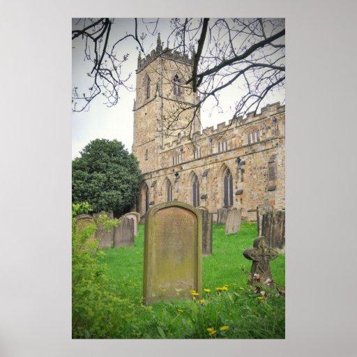 St Oswald's Church, Durham Poster
