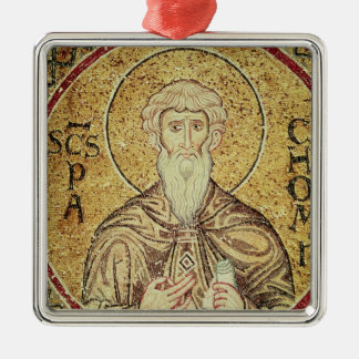 St. Pachomius Silver-Colored Square Decoration