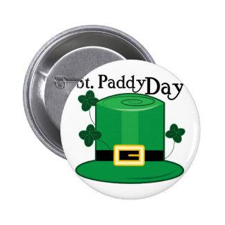 St Paddy Day 6 Cm Round Badge